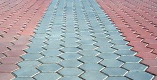 trottoarperspektiv royaltyfria foton