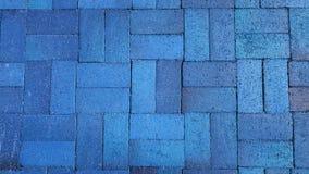 Trottoir bleu de modèle de brique images libres de droits