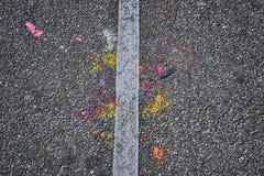 Trottoir coloré Images libres de droits