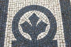 Trottoir de Lisbonne Images libres de droits