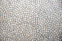 Trottoir de marbre de pavé rond avec la courbure Photo libre de droits
