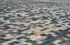 Trottoir de pavé rond Photos stock