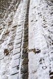 Trottoir de pavé rond dans Wemding, Allemagne Photos libres de droits