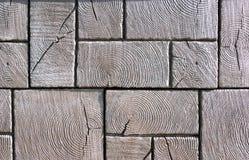 Trottoir en bois Images stock