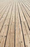 Trottoir en bois Images libres de droits