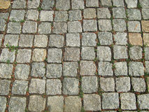 Trottoir en pierre de bloc Images stock