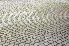 Trottoir en pierre de pavé Photo stock