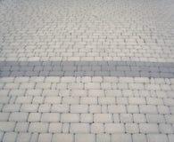Trottoir gris Photographie stock libre de droits
