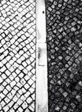 Trottoir noir et blanc Images libres de droits