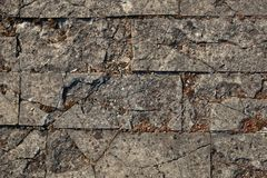 Trottoir pierre à macadam Texture de fond Image stock