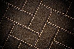 Trottoir rayé de brique, texture Image libre de droits