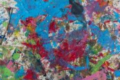 Trottoir souillé multicolore de couleur Fond Photos stock