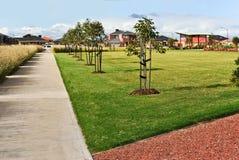 Trottoir suburbain Images libres de droits
