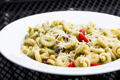 Trottole dish with a light pesto Stock Photos