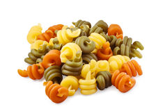 Trottole triccolore pasta with clipping path Royalty Free Stock Images