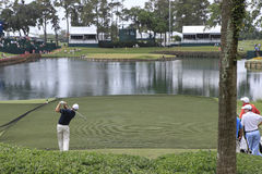 Trou 17, les joueurs, TPC Sawgrass, la Floride Images libres de droits