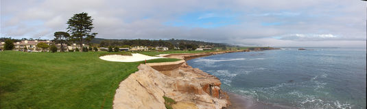 Trou 18 de Pebble Beach Photos libres de droits