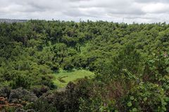 Trou aux Cerfs volcano, North Island, Mauritius royalty free stock photo