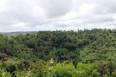Trou aux Cerfs volcano, North Island, Mauritius stock photos