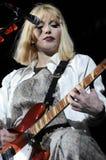 Trou avec l'exécution de Courtney Love sous tension. Photographie stock