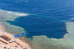 Trou bleu, Dahab, Egypte images stock