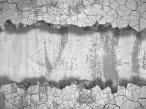 Trou cassé criqué foncé dans le mur en béton Fond grunge illustration de vecteur