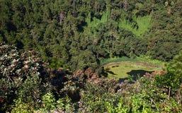 Trou Cerfs aux. un volcán dominante en Mauricio fotos de archivo libres de regalías