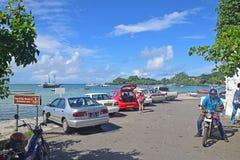 Trou D'Eau Douce is an important embarkation point to Ile aux Cerfs Stock Photos