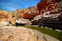 Trou d'eau serpentin de gorge photo libre de droits
