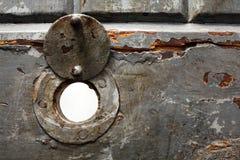 Trou dans la trappe de prison photographie stock libre de droits