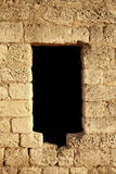 Trou dans le mur en pierre Images libres de droits