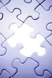 Trou dans le puzzle Images libres de droits