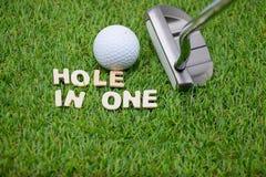 Trou dans un golf photo stock
