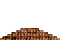 Trou dans un mur de briques Images libres de droits