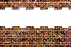 Trou dans un mur de briques Images stock