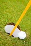 Trou de bille de golf photo stock