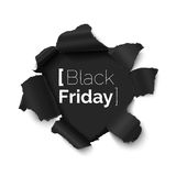Trou de Black Friday dans la bannière de papier illustration libre de droits