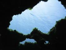 Trou de caverne Image stock