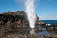 Trou de coup avec l'arc-en-ciel, Maui HI Photo libre de droits