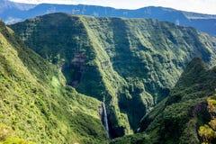 Trou de Fer waterfall in La Reunion island. Trou de Fer waterfall in La Reunion French island Royalty Free Stock Photo