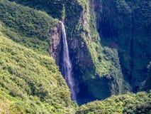 Trou DE Fer waterval in La-Bijeenkomsteiland stock fotografie