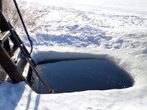 Trou de glace Image libre de droits