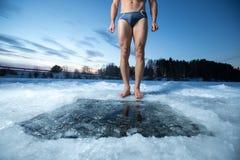 Trou de glace Images libres de droits