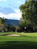 Trou de golf images libres de droits