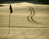 Trou de golf Photos stock