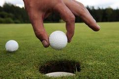 Trou de golf Photos stock