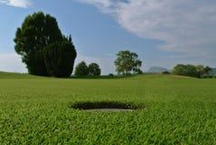 Trou de golf Photos libres de droits