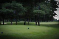 Trou de golf dans le Canada de Québec photographie stock libre de droits