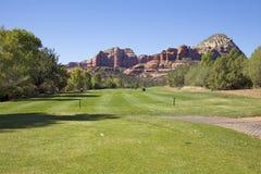 Trou de golf de Sedona Image libre de droits
