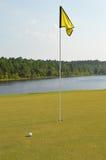 Trou de golf sur la voie d'eau Intracoastal Photo libre de droits